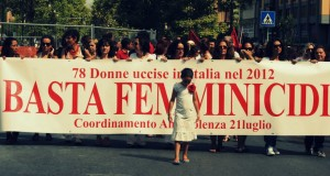 Palermo 21 Luglio 2012, manifestazione contro i femmicidi