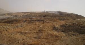 Incendio discarica di Bellolampo - CAVI SCOPERTI -  6/8/2012 - PH M.G.